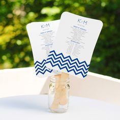 DIY Fan Program Kit | #exclusivelyweddings | #DIYwedding