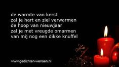 Teksten met wensen voor kerst en nieuwjaar.