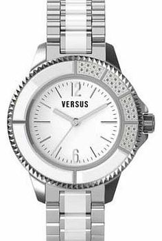 Versus Versace Venus Versace Ladies Two-Tone Tokyo Crystal Watch The Versus Versace Ladies Two-Tone Tokyo Crystal Watch features a stylish mineral crystal glass analogue display with a white dial and quartz movement. complemented by a sleek two-tone stainless steel http://www.comparestoreprices.co.uk/ladies-watches/versus-versace-venus-versace-ladies-two-tone-tokyo-crystal-watch.asp