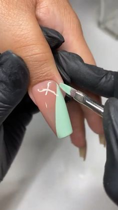 Diy Acrylic Nails, Acrylic Nails Coffin Short, Summer Acrylic Nails, Spring Nails, Summer Nails, Nail Art Designs Videos, Nail Designs, Exotic Nails, Classic Nails