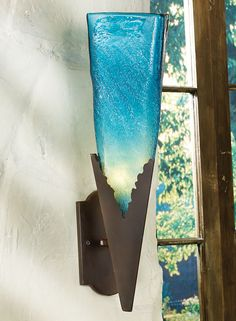 Turquoise Glass Wall Lamp