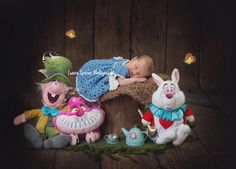 Alice in wonderland newborn photography. from todays newborn shoot, she was just gorgeous and i love this set up, I even made some bread and butterflies <3