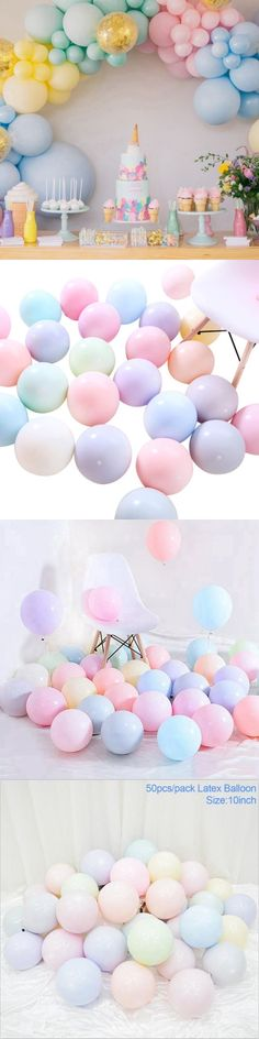 "100Pcs 10/"" Mixed Color Pearl Latex Balloons Celebration Party Wedding Birthday"