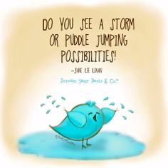 Storm or puddle jumping? ~~~ Written & Illustrated by Princess Sassy Pants & Co.