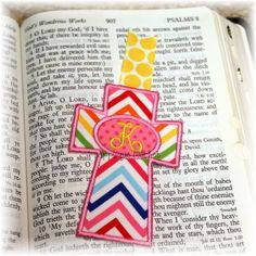 Machine Embroidery Design Applique Cross Bookmark by tmmdesigns, $4.00