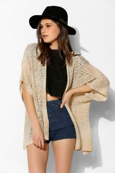 Ecote Summer Nights Cocoon Cardigan #urbanoutfitters