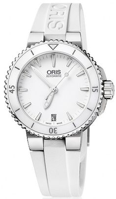 Oris Watch Aquis Date Lady Rubber #bezel-fixed #bracelet-strap-rubber #brand-oris #case-depth-11-9mm #case-material-ceramic #case-width-36mm #date-yes #delivery-timescale-call-us #dial-colour-white #gender-ladies #luxury #movement-automatic #official-stockist-for-oris-watches #packaging-oris-watch-packaging #style-divers #subcat-aquis #supplier-model-no-01-733-7652-4156-07-4-18-31 #warranty-oris-official-2-year-guarantee #water-resistant-300m