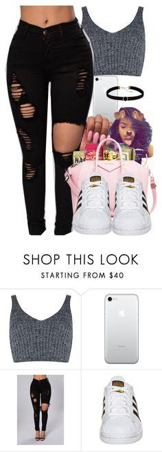 """•"" by kickinback-andvibin ❤ liked on Polyvore featuring J.O.A., adidas Originals and Astrid & Miyu"