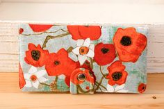 BiFold Wallet Clutch Handmade Wallet Vegan Wallet от cottonpurr