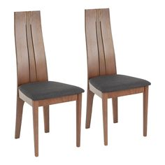 Contemporary Brown and Charcoal Dining Room Chair (Set of 2) - Aspen | RC Willey Furniture Store Fabric Dining Chairs, Upholstered Dining Chairs, Dining Chair Set, Dining Table, Plywood Furniture, Dining Furniture, Louis Xvi, Contemporary Dining Chairs, Contemporary Style