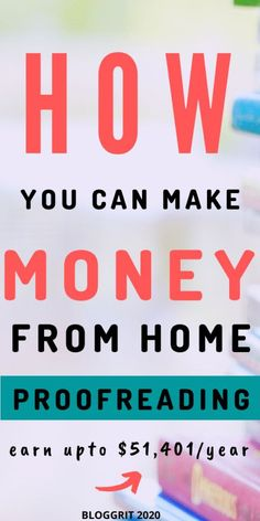 Make money from home proofreading  - Were you a grammar queen at school? Did you major in English in college? Or are you an avid reader who can scan through words at the speed of light and spot mistakes like a pro? You can make money from home proofreading for sure! 💯! #proofread #onlineproofreading #makemoneyfromhome #onlinejobs Online Jobs For Moms, Legit Online Jobs, Make Money Online Now, Make Money From Home, How To Make Money, Legit Work From Home, Work From Home Jobs, Extra Money Jobs, Jobs For Housewives