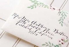 Floral + Woodgrain Wedding Invitations by Moira Design Studio via Oh So Beautiful Paper (7)