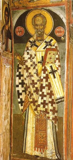 Nicholas the Wonderworker, Archbishop of Myra in Lycia century icon) - Commemorated December 6 ( source ) Akathist . Religious Images, Religious Icons, Old Fashion Christmas Tree, Prim Christmas, Father Christmas, Retro Christmas, Christmas Trees, Santa Pictures, Russian Orthodox