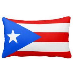Puerto Rican flag pillow