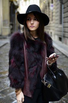 Purificación García (au/w 13-14) Jacket Givenchy Antigona Bag #LovelyPepa