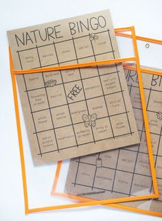Print & Play Nature Bingo for Cute & Fun Time Outdoors