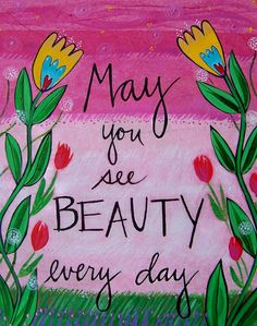 Original mixedmedia painting May You See Beauty by loriportka, $98.00