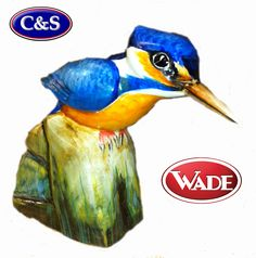 It has been over 70 years since Wade last produced a ceramic figurine from one of Faust Lang's wood carvings. We are now taking orders for this Prestigious Wade Kingfisher.  Don't miss the chance of owning this entirely new fantastic Faust Lang Kingfisher.   This will be an exclusive limited edition of only 100 figurines, each one numbered, boxed and with a certificate of authenticity.  All orders will be taken on a first come first served basis.