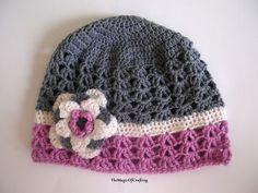 A Sense Of Spring Crochet Hat. Free crochet hat pattern.