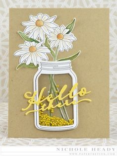 Hello There Card by Nichole Heady for Papertrey Ink (June 2015)
