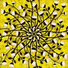 Mandala Bell Flower Yellow by Caroline Street All Wall, Mandala Art, Fine Art America, Digital Art, Instagram Images, Street View, Colours, Wall Art, Gallery