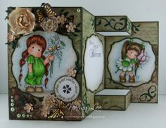 1 of 2 pins - TEMPLATE by Norma Lee.... Tri-shutter card with FULL front.... (see pin 2 of 2 for TEMPLATE of card)