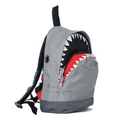 This woman had this back-pack at the airport and I loved it! It is awesome and part of the money goes to saving the sharks!