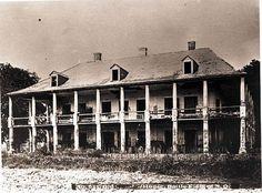 de la Ronde Plantation House. Saint Bernard Parish, LA. Destroyed by fie 1876