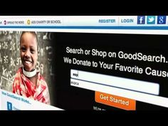 GoodSearch.  Donate to your favorite cause without evening thinking about it. Add the GoodToolbar to your web browser and pick your organization. When shopping online it will light-up if you are on a partner site, keep track of your donations (a portion of your purchase is donated to your cause)  and provide you with coupons.  www.goodseach.com