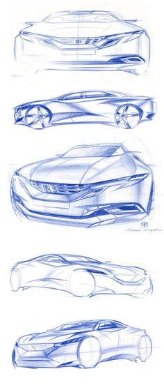 Peugeot Exalt Design Sketches by Chief Designer Romain Saquet