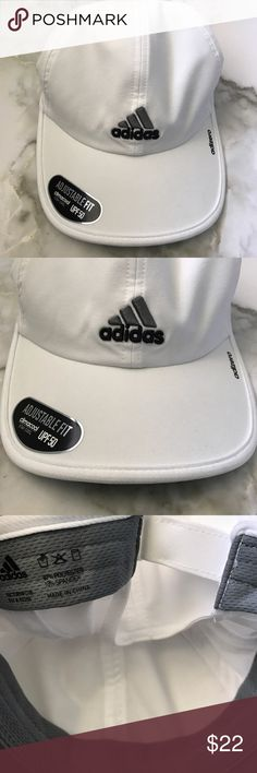 Adidas logo hat Authentic. Super cute versatile cap. Easy to wear everyday! Brand new, never worn or washed! Has an adjustable buckle on the back. NWT Adidas Accessories Hats