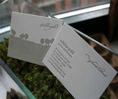Letterpress Business Card for Architecture