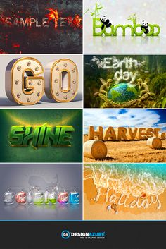 Step out of your shell with these super cool text effect tutorials.