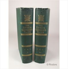 The Tales Of James Hogg, The Ettrick Shepherd on eBid United Kingdom  1884 Library Edition in 2 Volumes. Hardcover volumes, green cloth board covers with gilt titles