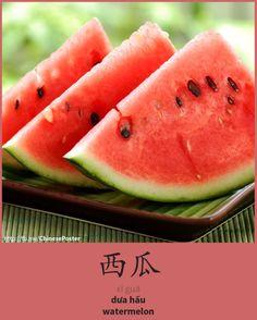 西瓜 - xī guā - dưa hấu - watermelon