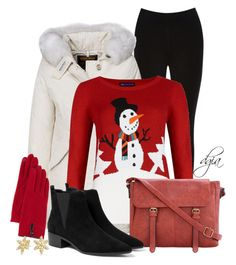 """Snowman Christmas Jumper"" by dgia ❤ liked on Polyvore featuring Oasis, Woolrich, MANGO, Portolano and Bling Jewelry"