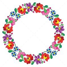 Kalocsai Embroidery in a Circle by RedKoala Vector background traditional pattern from Hungary isolated on Vector Shapes All groups have names All elemen Hungarian Embroidery, Embroidery Fabric, Hand Embroidery Designs, Floral Embroidery, Embroidery Stitches, Embroidery Patterns, Folk Art Flowers, Flower Art, Floral Flowers