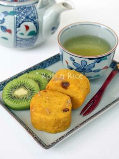 Steamed Kabocha Cake (substitute egg for flax egg).