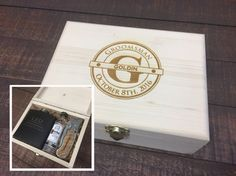 Groomsmen Cigar Box Engraved Wood Cigar Box Groomsmen Gifts