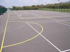 Netball Court Maintenance in #Brogaig 9