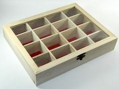 Design Your Own Wood Box DIY Unfinished Beads Trinket Jewelry Craft acc-1011