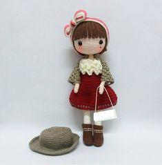 Crochet doll pattern / Amigurumi doll pattern PETUNIA