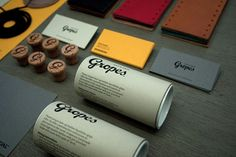 Gropes branding and packaging Brand Identity Design, Corporate Design, Corporate Identity, Visual Identity, Branding Design, Branding Ideas, Product Branding, Business Design, Graphic Design Typography