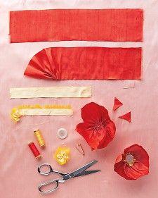 Silk Poppies - Martha Stewart Crafts by Material