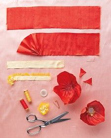 If you come to visit us during our Armistice Day event, you can make your own silk poppy to wear. Our silk poppy craft is different and more handmade than shown, but still uses ribbon, needle, and thread.