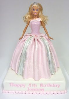 Barbie Doll Birthday The little girl in me had so much fun making this one! Drunk Barbie Cake, Barbie Birthday Cake, Barbie Party, Doll Party, Princess Birthday, Dolly Varden Cake, Birthday Cake Decorating, Dream Cake, Disney Cakes