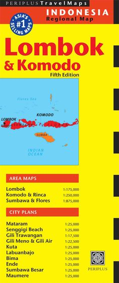 Periplus Travel Indonesia Regional Map: Lombok & Komodo