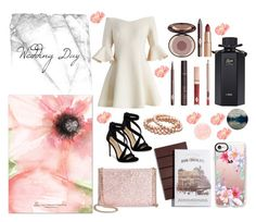 """""""Wedding Day"""" by beerrks ❤ liked on Polyvore featuring Chicwish, Imagine by Vince Camuto, Charlotte Tilbury, Gucci, Kate Spade and Casetify"""