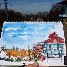 #hornimanmuseumandgardens #foresthill Forest Hill, Cool Artwork, Gazebo, Museum, Outdoor Structures, Amazing, Instagram Posts, Painting, Inspiration