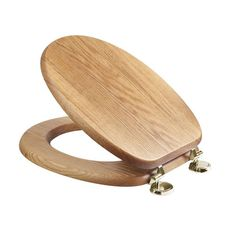 wooden toilet seat hinges. Croydex Sit Tight Bloomfield Solid Oak Toilet Seat with Brass Hinges  WL531076H Comfort Seats C1B1R 16BR Designer Wood PVD